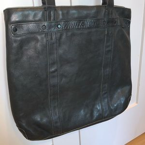"All saints ""storm tote"" leather bag"